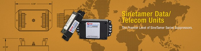 Sinetamer product line deliver collection of data and telecom units