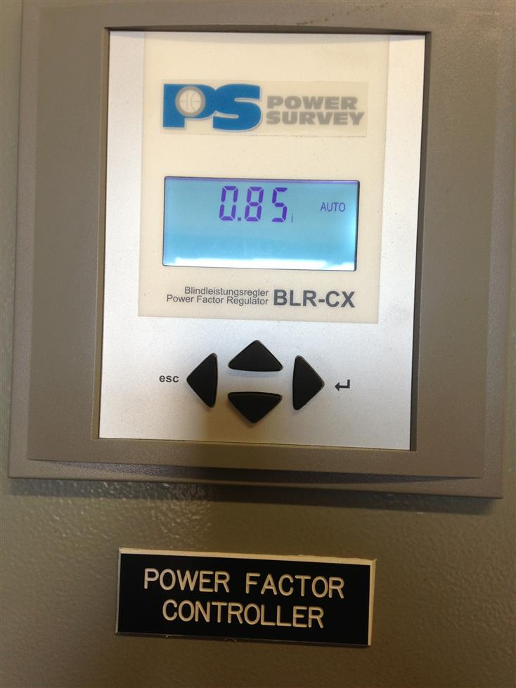 Power factor controller for power management